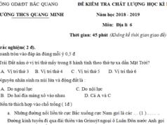 Đề thi kì 1 môn Địa lớp 6 THCS Quang Minh có đáp án So sánh núi già và núi trẻ