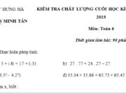 Đề kì 1 lớp 6 môn Toán có đáp án 2018 – Chứng minh P chia hết cho 3
