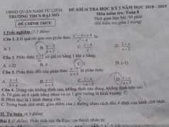 Đề thi kì 1 Toán lớp 8 THCS Đại Mỗ Tìm giá trị nguyên của x