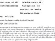 Kiểm tra kì 1 môn Văn lớp 8 THCS Phú Mỹ Xác định nội dung chính của văn bản