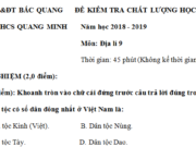 Đáp án đề kì 1 môn Địa lớp 9 THCS Quang Minh – Vẽ biểu đồ thể hiện giá trị sản xuất