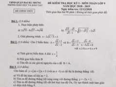Đề thi kì 1 lớp 9 môn Toán Quận Hai Bà Trưng HN Vẽ đồ thị hàm số khi m = 2