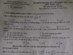 Đáp án đề thi kì 1 lớp 9 môn Toán Quận Hoàng Mai, HN Chứng minh G là trung điểm của AH