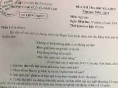 Thi kì 1 lớp 9 môn Văn Quận Hoàn Kiếm có đáp án Hãy cho biết bài thơ ra đời trong hoàn cảnh nào