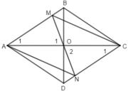 Đề kiểm tra 45 phút Chương 1 – Tứ giác Hình lớp 8: Chứng tỏ tứ giác AMCN là hình bình hành