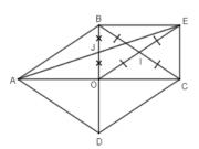 Đề kiểm tra 1 tiết Chương 1 – Tứ giác môn Hình lớp 8: Tứ giác OBEC là hình gì? Tại sao?