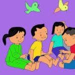 'Bắt vịt trên cạn' giúp cho trẻ tăng cường sự phát triển thể lực và lắng nghe