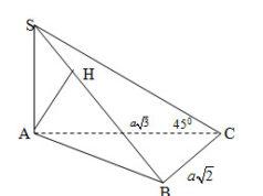 Kiểm tra học kì 2 môn Toán 11: Chứng minh các mặt hình chóp là các tam giác vuông