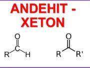 Bài 59. Luyện tập andehit và xeton: Giải bài 5, 6, 7, 8 trang 246 Sách Hóa lớp 11 Nâng cao