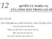 Bài 12. Quyền và nghĩa vụ của công dân trong gia đình- GDCD lớp 8: Em suy nghĩ gì về bổn phận, trách nhiệm của con cháu đối với ông bà
