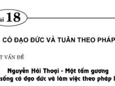 Bài 18. Sống có đạo đức và tuân theo pháp luật – GDCD 9:  Động cơ nào thôi thúc anh Nguyễn Hải Thoại có suy nghĩ và hành động sáng tạo