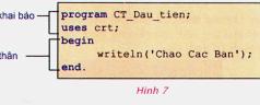 Bài 2. Làm quen với chương trình và ngôn ngữ lập trình –  Tin học 8: Cho biết sự khác nhau giữa từ khóa và tên