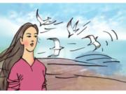 Soạn bài Tiết 7 Tuần 10 – Ôn tập giữa học kì 1 Tiếng Việt 4 tập 1 – Những từ ngữ nào cho thấy núi Ba Thê là một ngọn núi cao ?