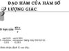 Bài 5, 6, 7, 8 trang 169 SGK Đại số và Giải tích 11: Đạo hàm của hàm số lượng giác