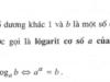 Bài 23, 24, 25, 26 trang 89, 90 Sách Giải tích 12 Nâng cao: Lôgarit SGK