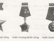 Chính tả – Tuần 30 trang 74, 75 VBT Tiếng Việt 5 tập 2: Điền tên huân chương phù hợp với mỗi chỗ trống dưới đây