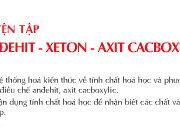 Bài 46. Luyện tập anđehit – xeton – axit cacboxylic – Giải bài 1, 2, 3, 4, 5 trang 212, 213 SGK Hóa lớp 11