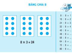 Bảng chia 8 Toán 3: Giải bài 1, 2, 3, 4 trang 59 – Tính nhẩm 8×5=?