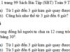 Bài 1, 2, 3 trang 99 SBT Toán 9 tập 2: Một đồng hồ chạy chậm 25 phút. Hỏi để chỉnh lại đúng giờ thì phải quay kim phút một góc ở tâm là bao nhiêu độ?