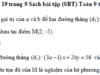 Bài 19, 20, 21 trang 9 SBT Toán 9 tập 2: Tìm a và b, để đường thẳng a x – 8 y = b đi qua điểm M (9; -6) và đi qua giao điểm của hai đường thẳng (d1): 2 x + 5 y = 17 , (d2): 4 x – 10 y = 14