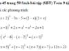 Bài 45, 46, 47 trang 59 SBT Toán 9 tập 2: Giải các phương trình sau bằng cách đưa về phương trình tích