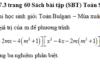 Giải câu 7.1, 7.2, 7.3 trang 60 SBT Toán 9 tập 2: Chứng minh rằng phương trình có nghiệm với mọi giá trị của m