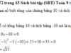 Bài 71, 72, 73, 74 trang 63 SBT Toán 9 tập 2: Tìm hai số biết tổng của chúng bằng 10 và tích của chúng bằng -10