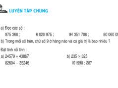 Bài Luyện tập chung trang 177 Sách Toán 4: Đọc các số