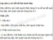 Tiết 5 – Ôn tập cuối học kì 1 trang 130 Vở bài tập Tiếng Việt 5 tập 1: Hãy viết thư gửi một người thân đang ở xa kể lại kết quả học tập, rèn luyện của em trong học kì I