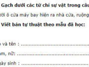 Tiết 1 – Tuần 18 trang 77 VBT Tiếng Việt lớp 2 tập 1: Nơi ở hiện nay : 161D/104/54L Lạc Long Quân, phường 3, quận 1,Thành phố Hồ Chí Minh