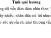 Tiết 3 – Ôn tập giữa học kì 2 trang 60 VBT Tiếng Việt 5 tập 2: Gạch dưới những từ ngữ trong đoạn 1 thể hiện tình cảm của tác giả với quê hương