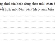 Tiết 6 – Ôn tập cuối năm trang 109 Vở BT Tiếng Việt 5 tập 2: Tả một buổi chiều tối hoặc một đêm yên tĩnh ở vùng biển hoặc ở một làng quê