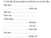 Tiết 6 – Ôn tập cuối kì 2 – Tuần 35 Trang 83 Vở bài tập Tiếng Việt 3 tập 2: Từ ngữ chỉ hoạt động của con người làm giàu, làm đẹp thiên nhiên : trồng cây, trồng hoa, trồng rừng, xây nhà, dựng nhà, xây cầu, bắc cầu, đào ao