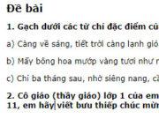 Tiết 7 – Tuần 18 trang 84 VBT Tiếng Việt lớp 2 tập 1: Gạch dưới các từ chỉ đặc điểm của người và vật trong những câu dưới đây: Càng về sáng, tiết trời càng lạnh giá