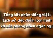 Soạn bài Tổng kết phần tiếng Việt – Lịch sử, đặc điểm loại hình và các phong cách ngôn ngữ ngắn gọn: Điền những nội dung cần thiết về tiếng Việt vào các mục trong bảng