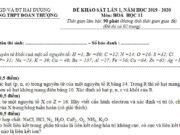 Khảo sát chất lượng đầu năm 2019 môn Hóa lớp 11 – THPT Đoàn Thượng: Nguyên tử một nguyên tố X có Z = 16. Hãy viết cấu hình electron và xác định vị trí (ô, chu kì, nhóm) của X trong bảng tuần hoàn (có giải thích)