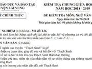 Đề thi giữa kì 1 môn Văn lớp 6 – Huyện Lai Vung 2018: Kể lại một truyện dân gian đã biết  bằng lờivăn của em
