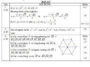 Đề kiểm tra đầu năm lớp 10 môn Toán – THPT Đông Thạnh: Không sử dụng máy tính. Hãy giải các phương trình sau: 3x² – 4x – 2 = 0