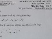 Đề thi học sinh giỏi môn Toán lớp 9 THCS Phạm Văn Hai năm 2019: Tìm các nghiệm nguyên của phương trình: 2x² + 3y² + 4x = 19
