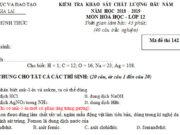 Đề kiểm tra đầu năm lớp 12 môn Hóa – Sở GD Gia Lai 2019: Đốt cháy hoàn toàn 0,10 mol CH3COOCH3 cần vừa đủ a mol O2. Giá trị của a là 0,35