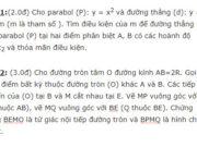 Đề kiểm tra đầu năm môn Toán lớp 10 – THPT Trưng Nữ Vương: Cho hình vuông ABCD cạnh a, tâm O. Gọi M,N là trung điểm AB và BC. Tính độ dài của các vectơ AN, OM, NM, theo a 2019: