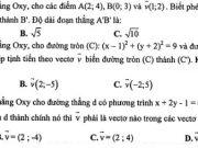 Đề kiểm tra giữa kì 1 môn Toán lớp 11 – THPT Chuyên Hà Nội Amsterdam 2019: Cho các chữ số 0, 1, 2, 3, 4, 5. Có bao nhiêu số gồm 3 chữ số khác nhau được thành lập từ các chữ số đã cho?