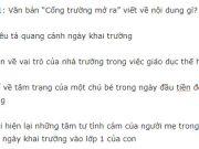 """Đề thi giữa học kì 1 môn Văn lớp 7 trường THCS Quang Trung 2018: Nội dung của bài ca dao """"Công cha như núi ngất trời… ghi lòng con ơi"""" là gì?"""