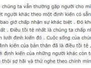 Đề thi giữa kì 1 môn Văn lớp 11 THPT Nguyễn Thị Minh Khai 2018: Thông điệp nào của đoạn văn có ý nghĩa nhất đối với anh chị ? Vì sao ?
