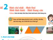 Toán 6 Bài 2. Hình chữ nhật – Hình thoi. Hình bình hành – Hình thang cân trang 80 SGK CTST