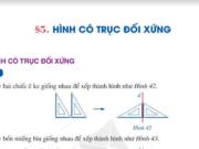 Bài 5 Hình có trục đối xứng trang 108, 109 SGK Toán lớp 6 Cánh diều