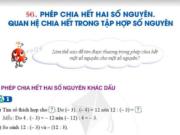 Cánh Diều – Giải Toán 6 Bài 6. Phép chia hết hai số nguyên. Quan hệ chia hết trong tập hợp số nguyên