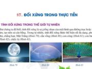 Giải toán 6 Bài 7 Đối xứng trong thực tiễn – trang 115, 166 SGK Cánh diều