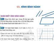 Giải Toán 6 hình học bài 3: Hình Bình Hành trang 102, 103 SGK Cánh diều