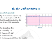 Bài tập cuối chương 3 Hình học trực quan trang 117, 118 Toán lớp 6 Cánh diều